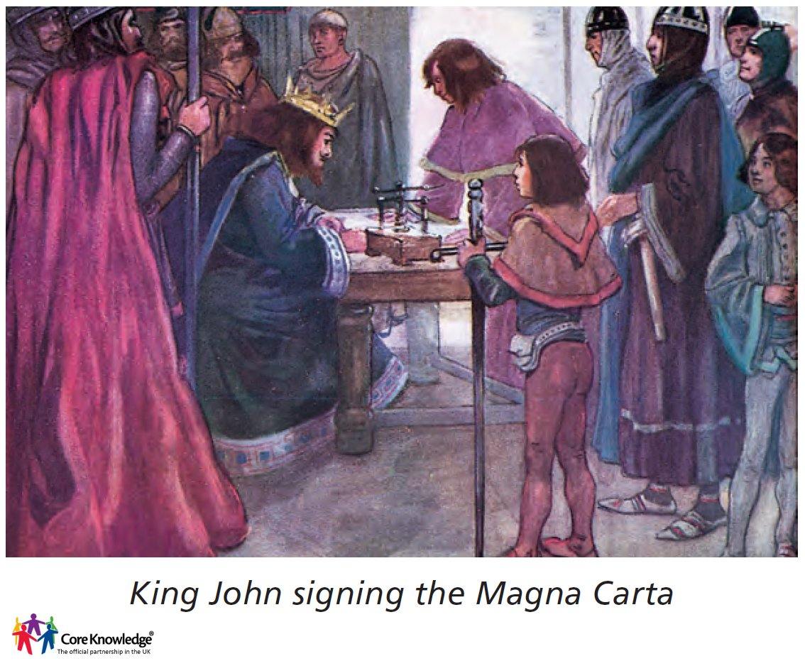 king john giving his seal to the magna carta
