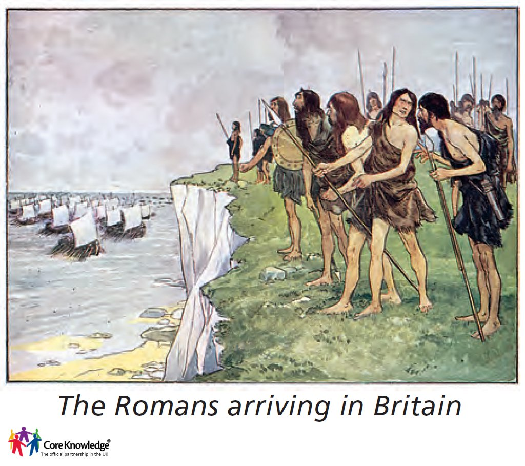 romans arriving in Britain