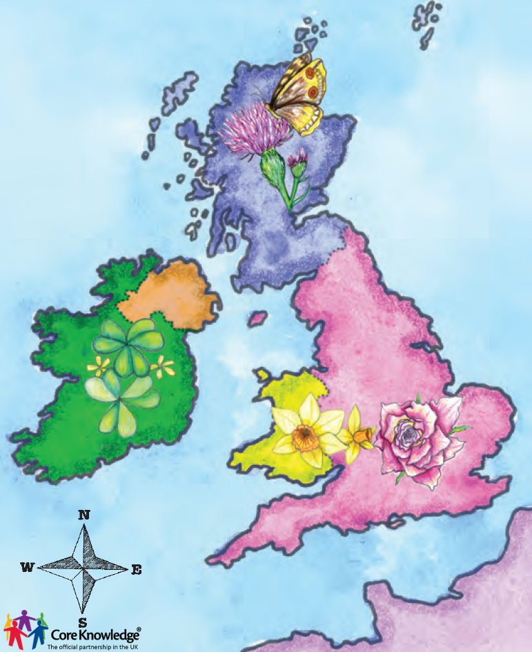 uk flower map closeup