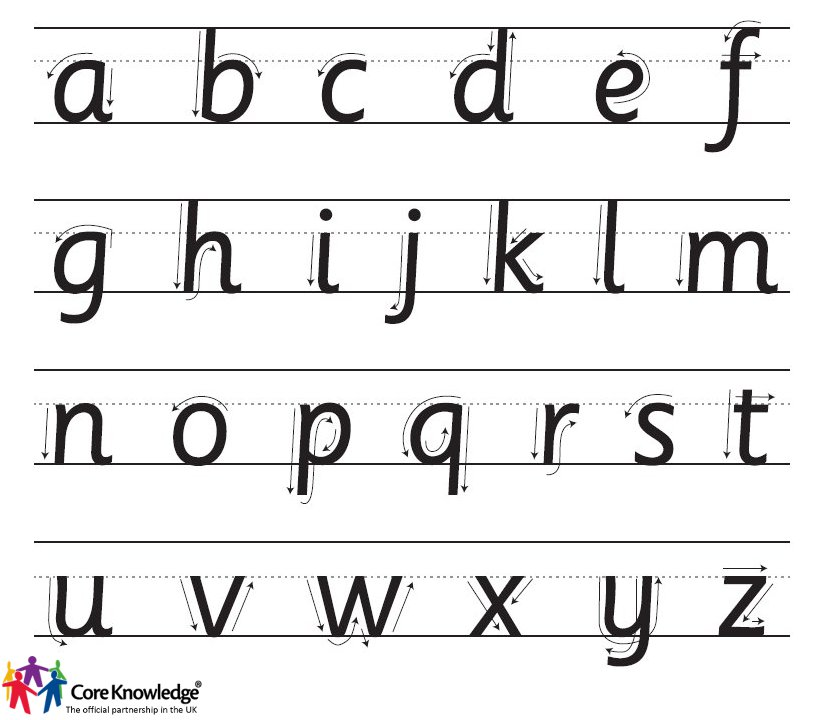handwriting - lower case