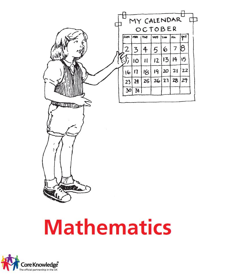 girl with calendar - maths cover image