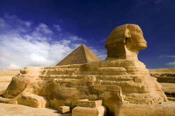 great sphinx and pyramid map